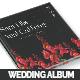 Vintage Floral Wedding Photobook/Album