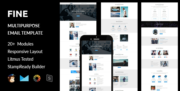 Fine – Multipurpose Responsive Email Template + Stampready Builder (Email Templates)