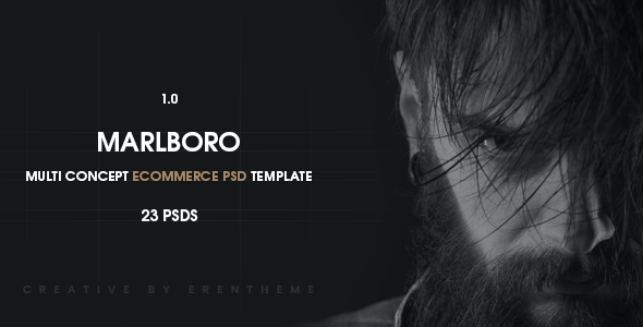 Marlboro - Ecommerce PSD Template
