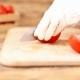 Girl Cuts Tomatoes