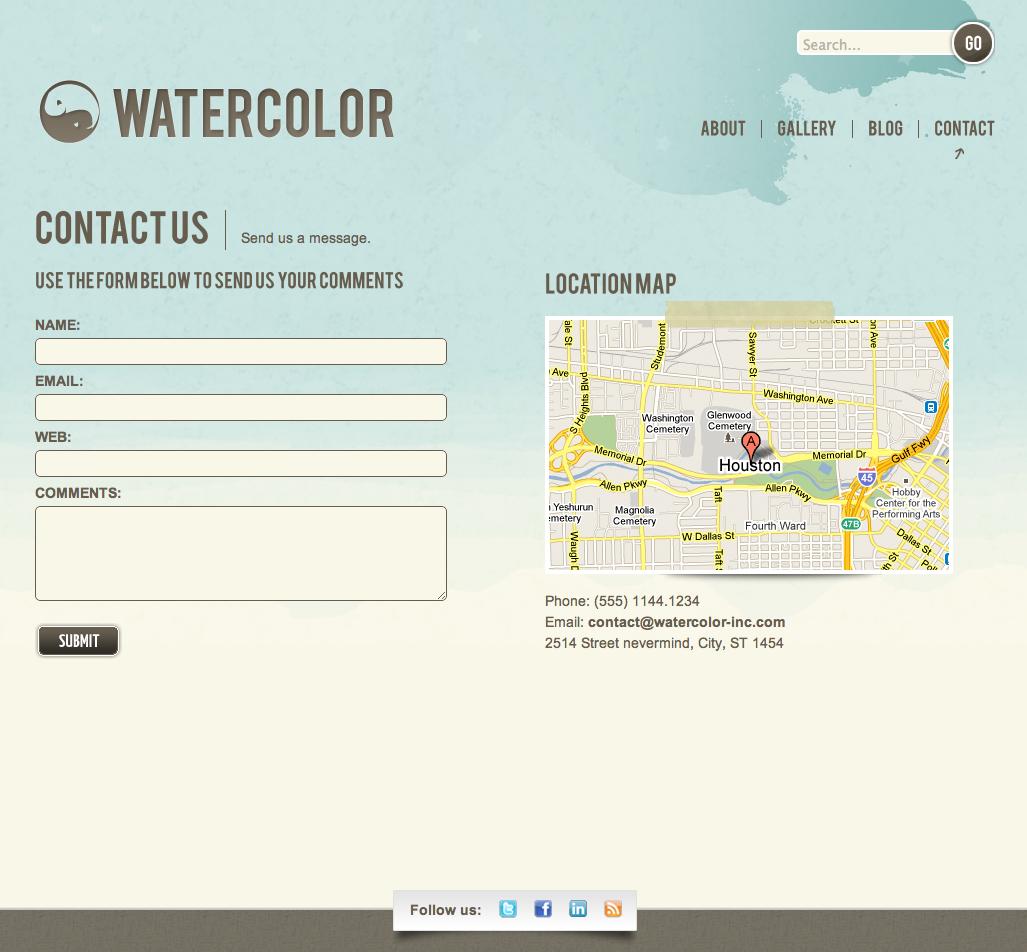 Watercolor WordPress - Validation contact form