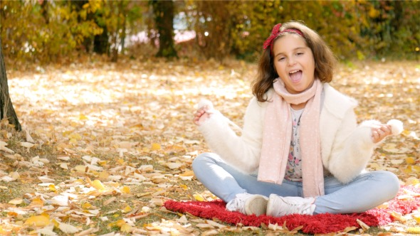Download Happy Child Enjoys Autumn nulled download