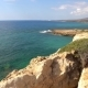 Beautiful Sea Landscape Of The Island Of Cyprus With a Rocky Shore.