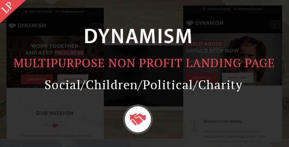 Dynamism Multipurpose Nonprofit Landing Page Template