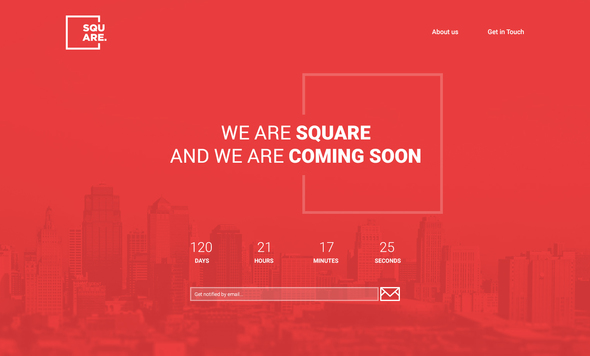 Square - PSD Coming Soon Template