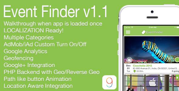 Event Finder Full iOS Application v1.1