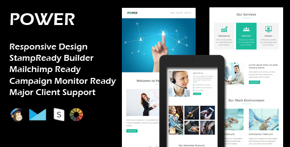 Download POWER - Multipurpose Responsive Email Template + Stamp Ready Builder nulled download