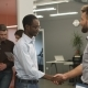 Young Colleagues Handshaking After Successful Work Together.