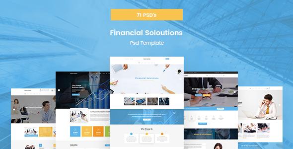 Financial Solutions - Financial & Business PSD Template