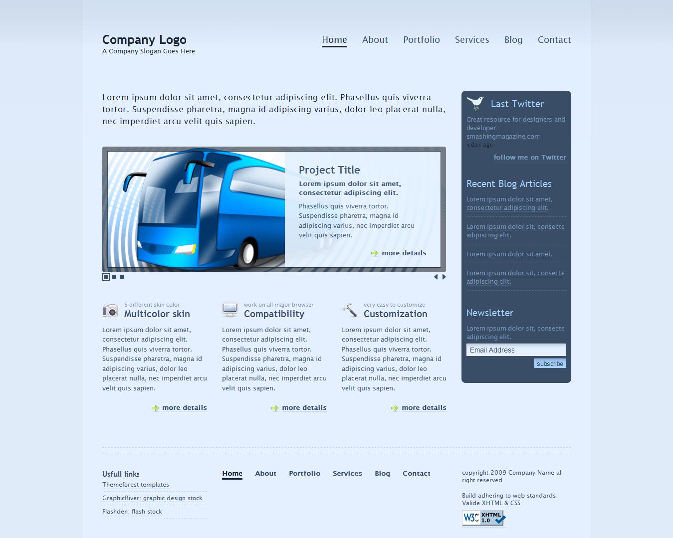 Transparent - Business & Portfolio 2.0 template