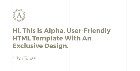 ALPHA | Versatile Coming Soon Template