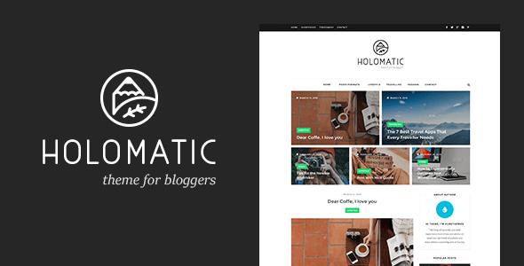 Holomatic - Personal Blog WordPress Theme