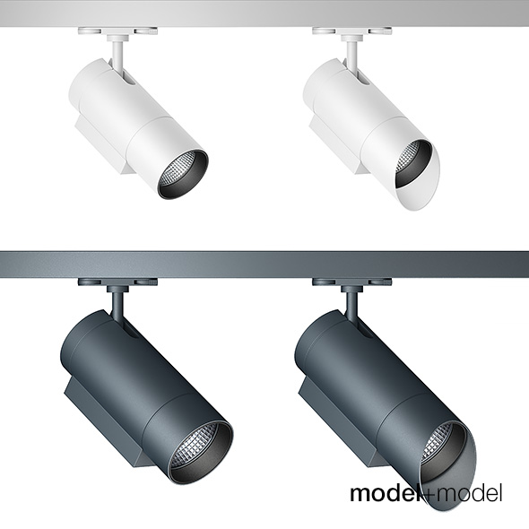 Zumtobel Arcos track spotlights - 3DOcean Item for Sale
