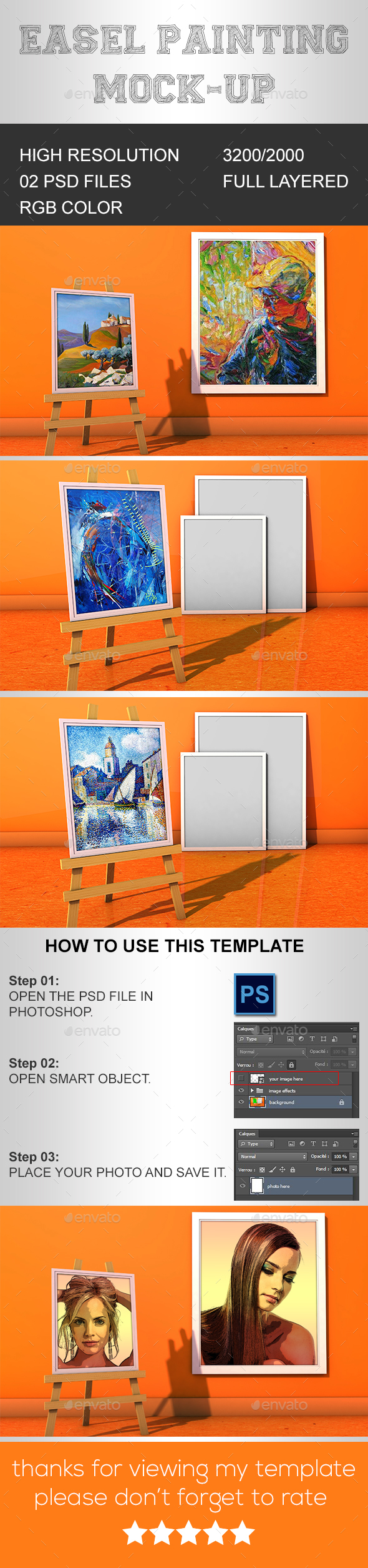 Easel Painting Mock-up (Artistic)