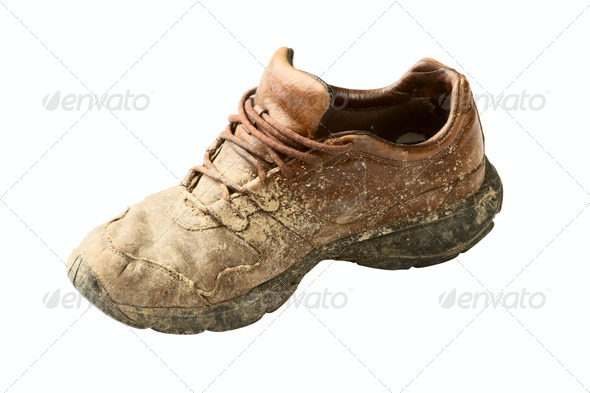 dirty trainer - Stock Photo - Images