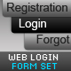 Web Login Form Set Login + Registration - GraphicRiver Item for Sale