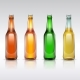 Beer Glass Bottle Vector Set Isolated on White