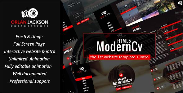 HTML5 Modern Cv