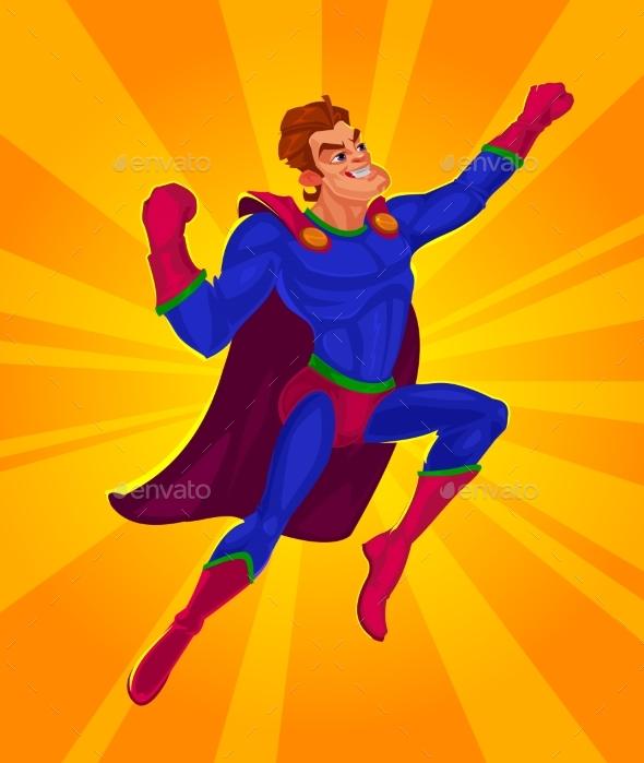 Illustration of a Superman