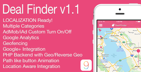 Deal Finder Full iOS Application v1.1