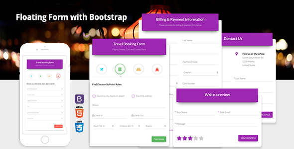 Download Floating Form with Bootstrap nulled download