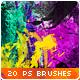 Watercolor Splatter Paint Photoshop Brushes