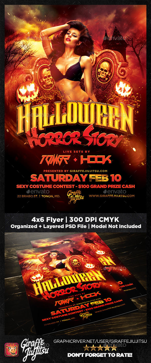 Halloween Horror Story Flyer Template