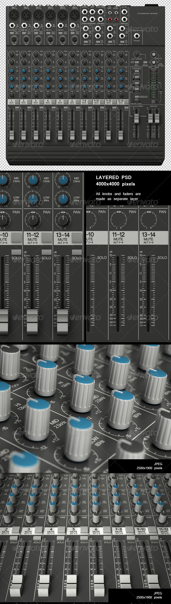 Sound Mixer Renders Set