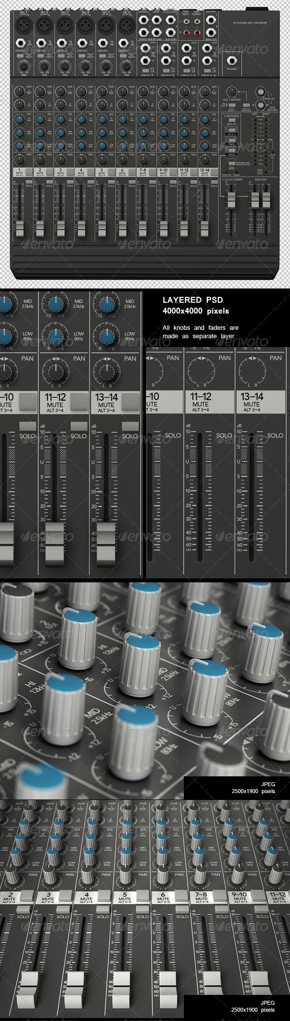 GraphicRiver Sound Mixer Renders Set 213108