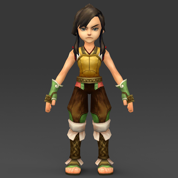 Cartoon Character Gulli - 3DOcean Item for Sale