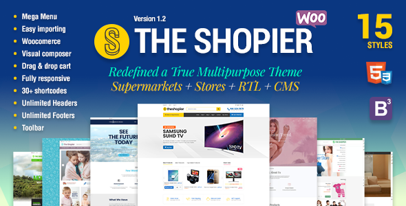 Shopier - Responsive Multipurpose WordPress WooCommerce Theme