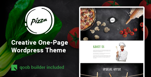 Pizza - Restaurant Cafe WordPress Theme
