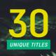 30 Minimal Titles