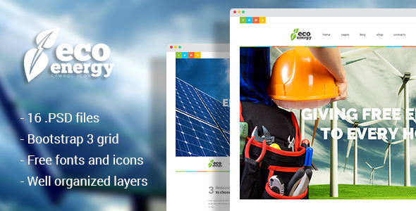 Eco Energy - Ecology & Alternative Energy Company PSD Template