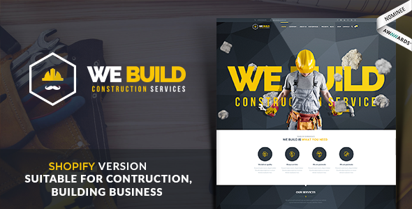 We Build - Construction, Building Shopify Theme