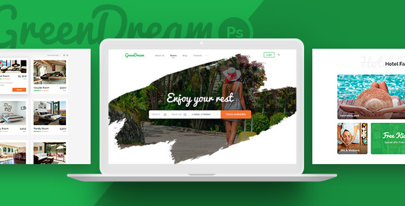 Green Dream - Hotel HTML Template