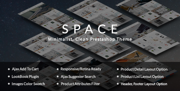 Download The Space - Minimalist, Clean, Responsive Prestashop Theme nulled download