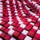 Abstract Surface Of Moving Cubes