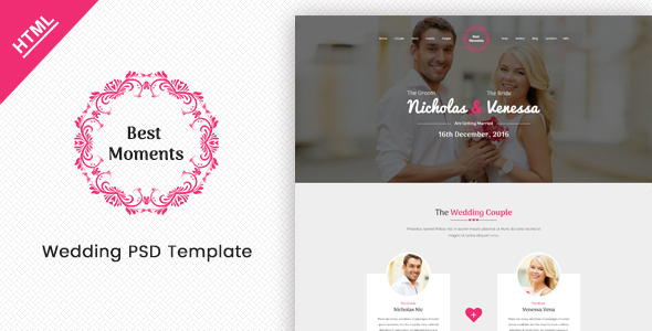 Best Moments - Mordern Wedding Site Template