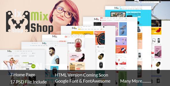 MixShop eCommerce PSD Template