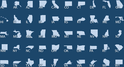 50 Individual Interactive State Maps