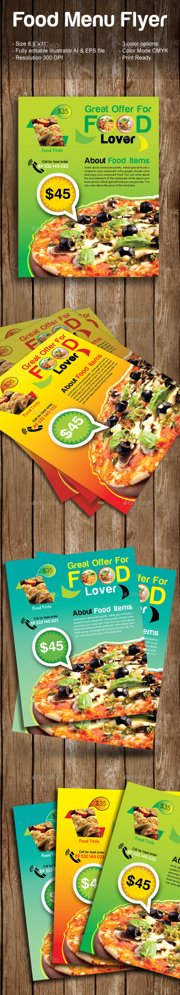 Food Menu Flyer