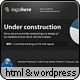 Under Construction page with twitter & pie graph! - ThemeForest Item for Sale