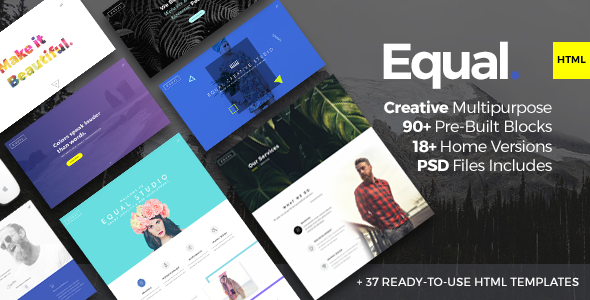 Equal Two - Creative Multi-purpose HTML5 Template