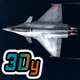 Mobile Low Poly Dassault Rafale