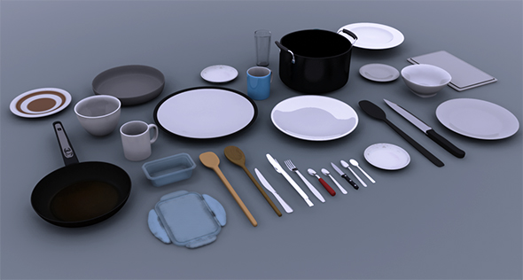 Kitchenware collection - 3DOcean Item for Sale
