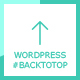 WP #BackToTop - Back to top button with scroll percentage