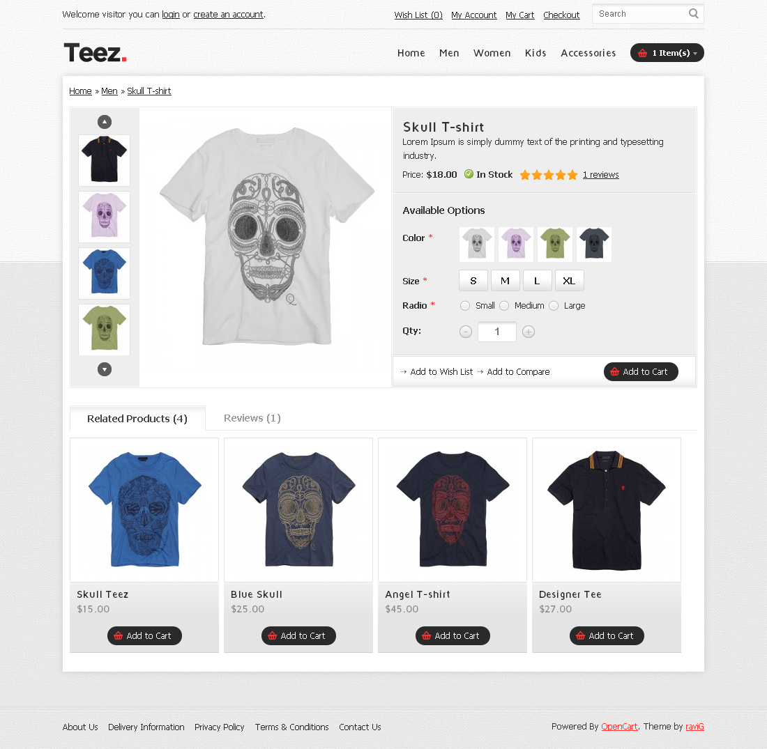 Teez OpenCart Theme