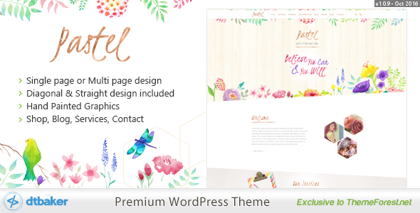 Pastel+Floral+Art+WordPress