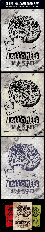 Minimal Halloween Party Flyer
